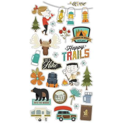 Simple Stories Chipboard Stickers - Happy Trails